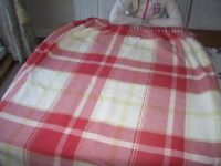 BUXTON CHECK RED LAURA ASHLEY CURTAINS WITH BLACKOUT LINING