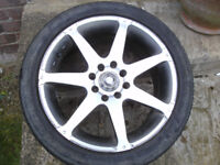 Multy fit alloy wheel and tyre