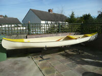 fibreglass expedition canoe very strong will carry loads of gear very stable in rough water