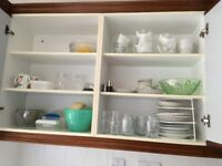 Cupboard of Assorted Crockery and Glassware