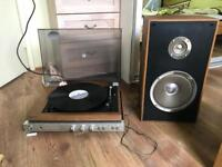 Vintage Sony HMW-20 Turntable/Record Player and 1 Speakers