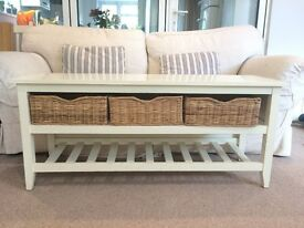 The Cotswold Company cream storage unit and seat