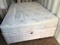 Double Divan Sprung Bed Base and Mattress