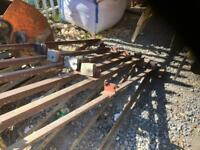 Steel roof trusses purlins x 6