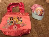 Disney store bag & hat