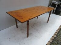 Large Pine Dining Table - Good Condition