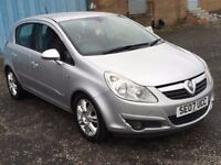 2007 Vauxhall CORSA 1.2 Design , mot - July 2018 , only 25,000 miles from new,fiesta,clio,punto,polo