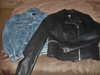 Leather and Denim Jackets