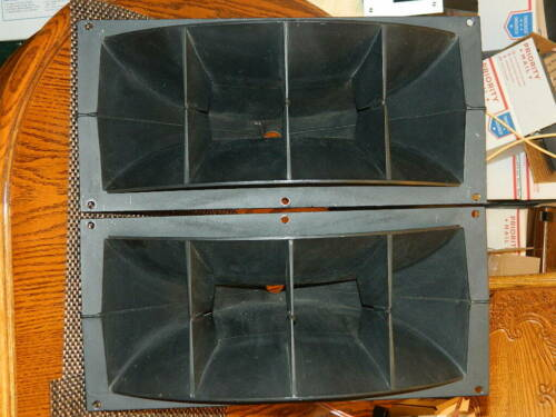 "Pair Altec H-811B Horns with Gasket ""Pulled from Model 19 Speakers"" Clean 811"