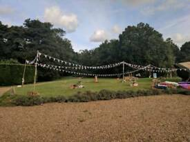 X5 bunting 3 meter poles and x5 ground spikes