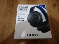 Sony MDR-ZX770BN Wireless Noise Cancelling Headphones (Black & Blue)