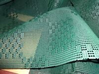 Breathable Green Ground Sheet - over 2.3m x 2.45m (see description for full details) - REDUCED !!!