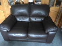 Compact Leather Sofa
