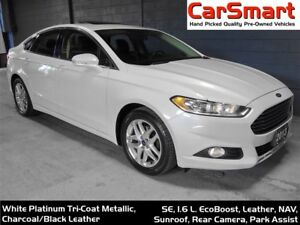2013 Ford Fusion SE, Leather, Nav, Back-up Camera, SunRoof