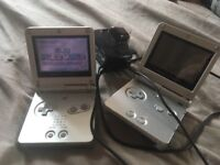 Two Gameboy advance sp consoles