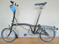 Near New B-Spoke Brompton M3R Folding Bike With Upgrades