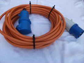 Mains hook-up lead suitable for Motorhomes or Caravans