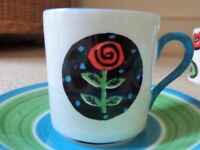 Repeat Repeat Contemporary Modern Art Fine Bone China Demitasse,Expresso Cup saucer & side plate