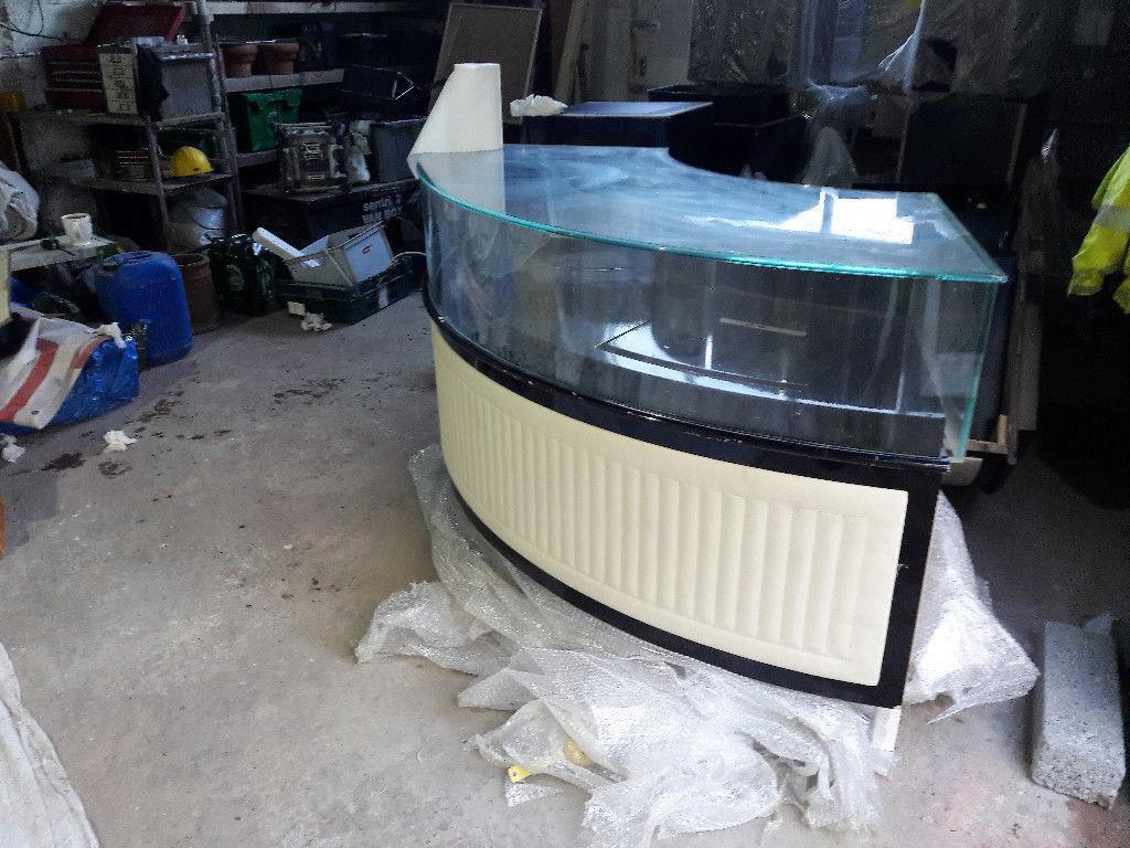 Glass Retail Display Units. Bankrupt Stock