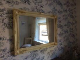 Antique Ornate cream mirror