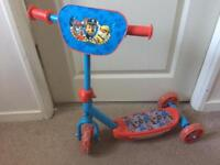 Paw Patrol first tri-scooter