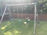 Wooden Plum Swing Set