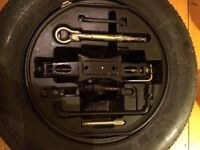 Citroen c4 spare tyre and wheel changing set