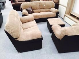 SOFA'S AT SALE PRICES**BRAND NEW FABRIC SOFA SETS**MATCHING ARM CHAIRS AND STOOLS ALSO IN STOCK