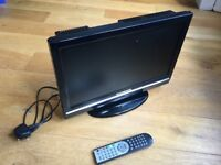 18.5 inch (470mm) Television TV with USB, Freeview, Remote Control and in-built DVD Player