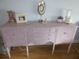 Serpentine Sideboard upcycled in Annie Sloan paint