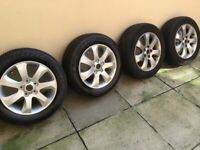 Alloy wheels and tyres ,can deliver, please ask.