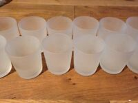 20 Frosted Glass Tea Light Holders. Perfect for Weddings.