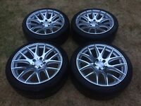 """18"""" 3sdm Alloy wheels with Kumho Tyres 5x120 BMW T5 INSIGNIA"""