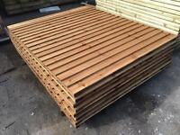 🏅New Pressure Treated Brown Vertical Board /Flat Top Feather Edge Fence Panels•