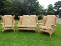 Queen Anne Wing-Back 2+1+1 Suite (Chesterfield Type)