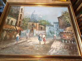 Oil painting by burney