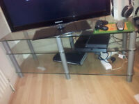 Large Glass TV stand 50x18x20 (INCHES)