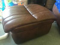 Brown high quality leather foot stall