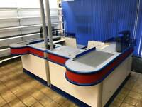 Supermarket checkout counters 2x available