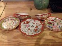Japanese kutani teacups and saucers