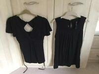 2 Maternity evening tops Size 10/12 (Dorothy Perkins &TU)