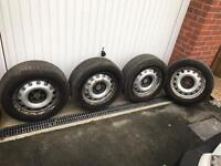 """2008 Peugeot Expert 16"""" steel rims and tyres"""