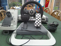 Xbox 360 Force Feedback Wheel and Pedals