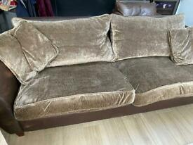 Sofa four seater and armchair from heals