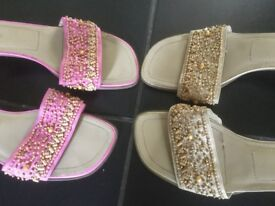ladies shoes/sandals, size 8 (roberto vianni)- 2 pairs.
