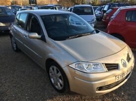 2006 RENAULT MEGANE MAXIM 1.5 DCI GOLD 5DR HATCHBACK £30 A YEAR ROAD TAX