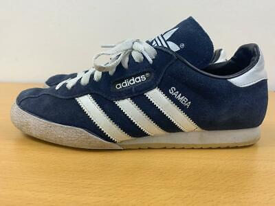 ADIDAS SAMBA SUPER SUEDE MENS NAVY  TRAINERS UK SIZE 9 CLEARANCE - 019332