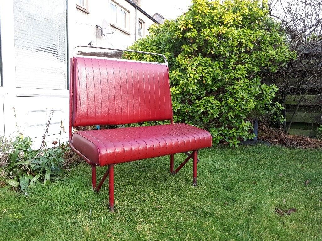 Old Man S Cave Store : Old edinburgh vintage bus seat bench man cave barber shop