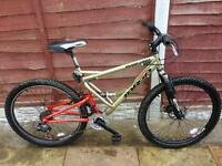 MENS 20 INCH VIKING WARLORD SUSPENSION DISC BRAKE MOUNTAIN BIKE 21 SPEED SMETHWICK £55