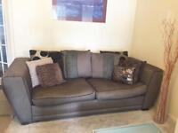 2 X 3 Seater DFS Large Brown/Tobacco Colour Sofas